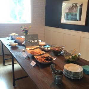 Food spread in the Dining Room