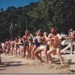 Tug of War Competition on beach in Rio de Janeiro, Brazil