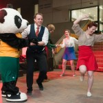 """Let's Swing & Hit That Jive"" dancing with U of A mascots - GUBA and Patches"