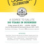 Centennial Kick-Off Celebration Invitation